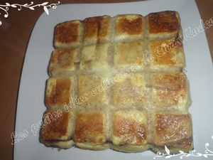Croque cake jambon de Parme / raclette.