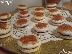 Macarons fourrés au foie gras