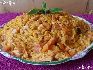 One pot pasta aux saumon frais et petits légumes