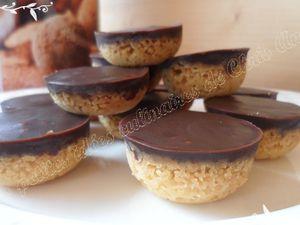 Bouchées sablées au chocolat carambar