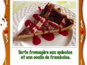 Tarte fromagère aux spéculos