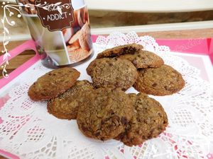 Cookies à la vergeoise et aux pépites de chocolat d'après une recette de Christophe Michalak