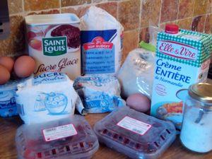 les ingrédients + le sucre vanillé maison