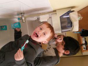 Les brosses à dents sont arrivées !