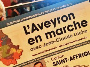 [Départementales] Réunion publique de Saint-Affrique avec Jean-Claude Luche