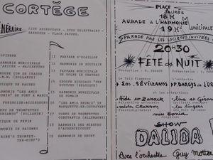 Programme de 1972. Document appartenant à Didier Margerin.