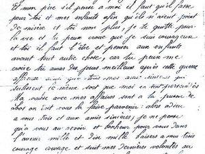 Lettre de Jules Domisse rédigée la veille de son exécution à la prison de Loos et adressée à sa femme et ses enfants.