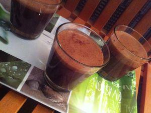 Mousse aux deux chocolats &quot&#x3B; chocolat au lait et chocolat noir 85 %&quot&#x3B;.