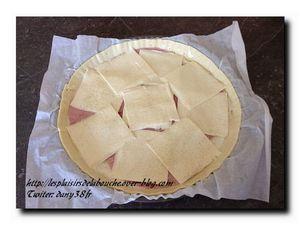 Feuilleté béchamel jambon fromage
