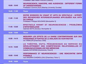 Neuroscènes. Programme définitif