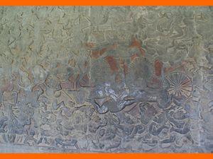 Galeries et bas reliefs de la Bataille du Kurukshetra