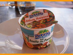 Un bon petit plat et une glace rhum raisins :)