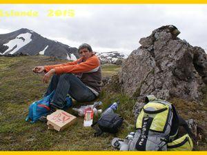 Islande 2015. En route pour le massif du Landmannalaugar. Rando Brennisteinsalda. Jour 9.