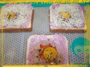 Toast à l'oeuf au four