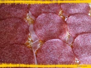 Couronne 3 fromages , jambon et salami