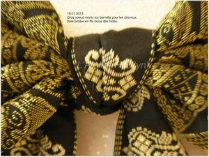 2013.06.08 - Noeud pour cheveux, foulard cravate homme, pochette et ceinture, le tout en soie