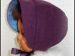 2013.12.08 - Béguin pour demoiselle : laine bouillie doublé coton wax