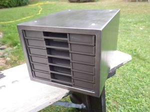 casier métallique vintage CLEN 6 tiroirs