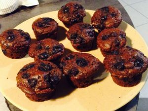 muffins version vanille-myrtille et chocolat-myrtille