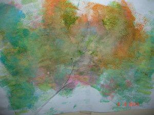 Les premier gestes à acquérir en peinture (avec les tous petits ou les enfants d'âge préscolaire)