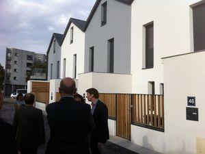 Inauguration de logements en accession sociale à la propriété, à Saint-Denis