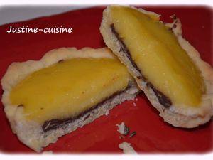 Tarte au citron et au chocolat