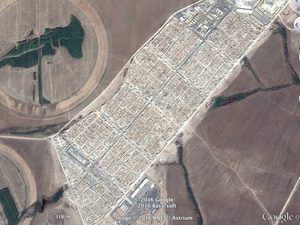 Le camp de Tel-Hamur. Captures d'écran Google-Earth