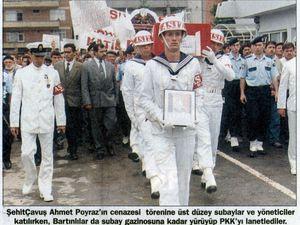 Photos publiées dans Milliyet et Türkiye le 23 juin 1998
