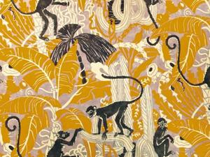 Capucin, impression sur velours de coton, usage siège et rideaux, 4 coloris