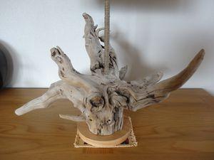 Lampe racine en bois flotté - Ôboisdormant -
