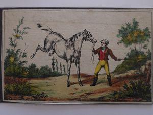 jeu du cheval blanc édition française 1836 ( carton douane : l'octroi de Paris )
