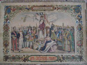loto historique dédié à la jeunesse de France, circa 1860