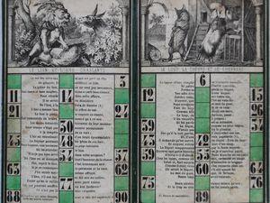 loto des fables de La Fontaine, cartons 1 à 12