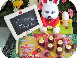 Oeufs à la coque sucrés ! Joyeuses Pâques !