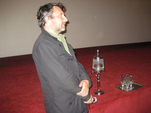 Bruno Podalydès répondant aux questions des spectateurs. Photos Delahaye.