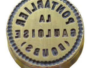 Matrice du sceau pour La Gauloise. Effet miroir pour la deuxième photo. Coll. Delahaye.