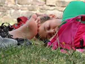 Pique-nique et sieste à l'abbaye de Marbach.
