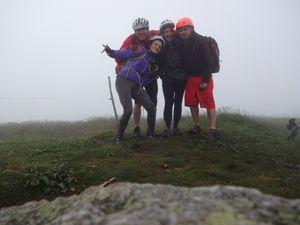 Ca y est ! Le sommet ! Nous en profitons pour faire une photo de (petit) groupe.