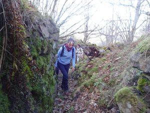 Retour dans les tranchées. Lors des passages hors pistes, il faut faire attention aux rochers et aux branches, mais également aux barbelés datant de la grande guerre.