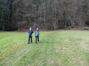 Nous traversons le village de Gerolsau et rencontrons le père noël.