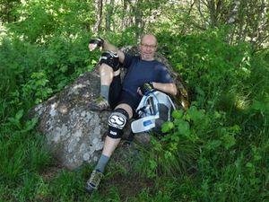 Au sommet du Hartmanswillerkopf, nous faisons une pause bien méritée.