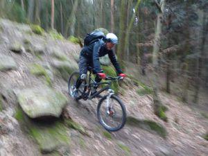la descente sur Wintzenheim, à conseiller à tout amateur de descente un peu ardue.