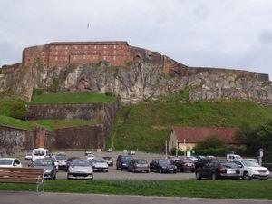Fin de parcours et arrivée à Belfort avec ses impressionnantes fortifications.