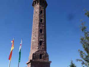 Une dernière montée de la mort, et nous arrivons à la tour du Mooskopf.