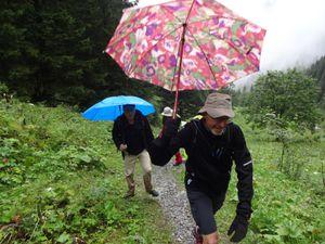 Nous continuons à monter jusqu'au refuge Sarolahütte.