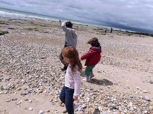 Sur les plages d'Audresselle