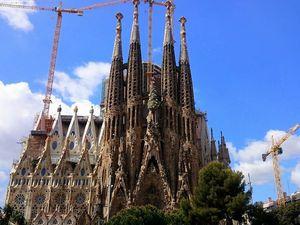 La Sagrada Familia, monument le plus visité d'Espagne (avril 2015, images personnelles)
