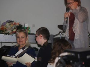 Tanneguy receiving the prize. He was so proud and so happy!