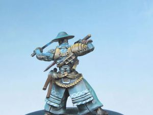 Commission: Miyamoto Musashi , infinity the game 28mm