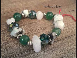 Bracelets pierres naturelles  tons de verts !